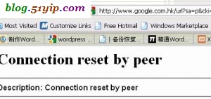 google报错