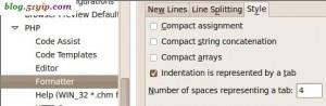 php插件,设置一个tab对应几个空格