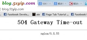 nginx 504 Gateway Time-out